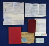 zz Small collection of old financial papers and ephemera - Newquay, Cornwall (1910-30) (SOLD)